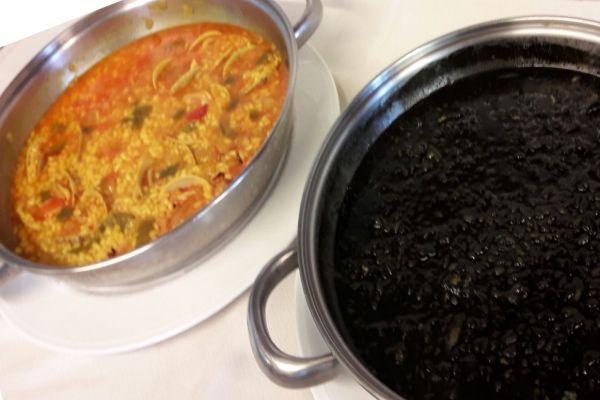 Arroz con Almejas y arroz con chocos