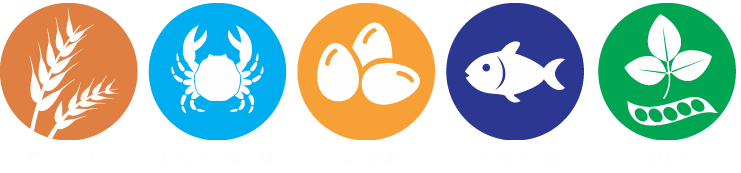 Leyenda Carta alergenos restaurante